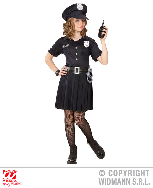 Childs kids Police Girl Fancy Dress Costume Cops & Robbers Outfit 5-13 Yrs