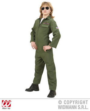 Childs Kids Deluxe Fighter Jet Pilot Boy Fancy Dress Costume Outfit 5-16 Yrs