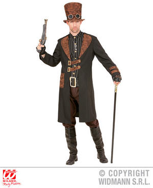 Mens Male Navy Steampunk Suit Victorian Era Fancy Dress Costume Outfit Adult