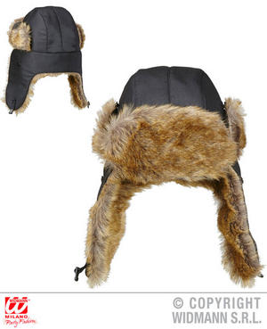 Aviator Novelty Trapper Hat Fancy Dress Costume Outfit Accessory Adult