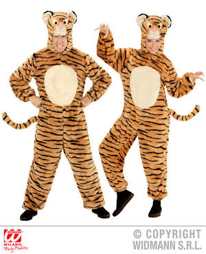 Unisex Adult Plush Tiger Fancy Dress Costume Animal Outfit