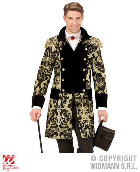 Mens Male Gold Prince Parade Coat Fancy Dress Costume Fairy Tale Outfit Adult