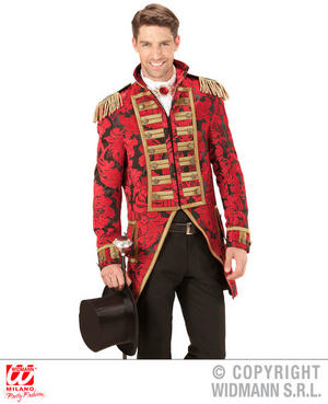 Mens Male Red Circus Parade Tailcoat Fancy Dress Costume Fairy Tale Outfit Adult