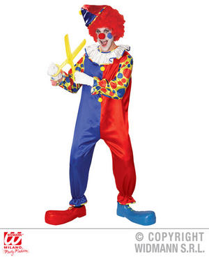 Mens Male Funny Clown Killer Halloween Fancy Dress Costume Cicus Outfit Adult