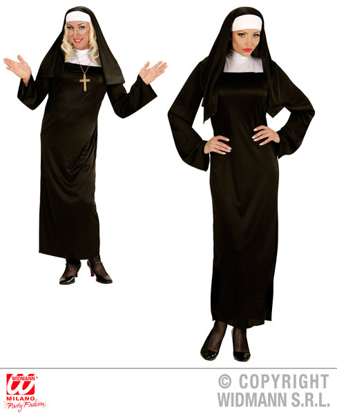 Womens Ladies Nun Fancy Dress Costume Religious Outfit Adult