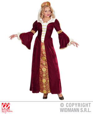 Womens Ladies Medieval Queen Juliet Fancy Dress Costume Outfit Adult