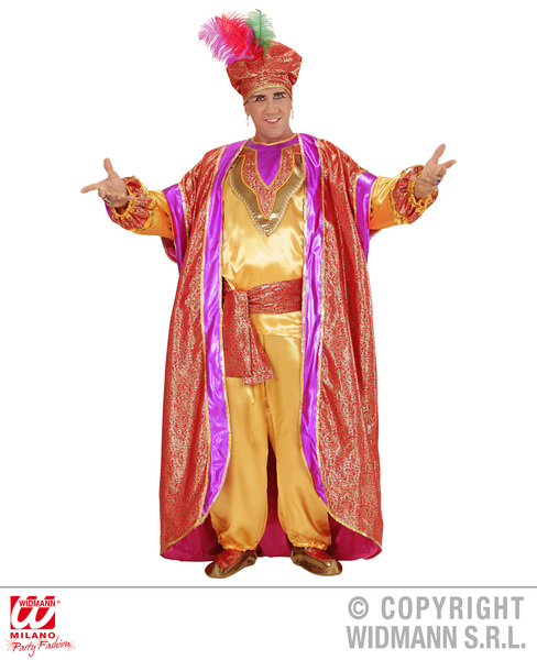 Mens Male Deluxe Arabian Sultan King Fancy Dress Costume Outfit Adult