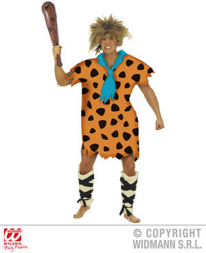 Mens Male Stoneage Caveman Fancy Dress Costume Outfit Adult