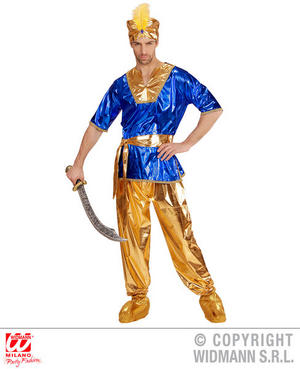 Mens Male Sultan Fancy Dress Costume Arabian Outfit Adult