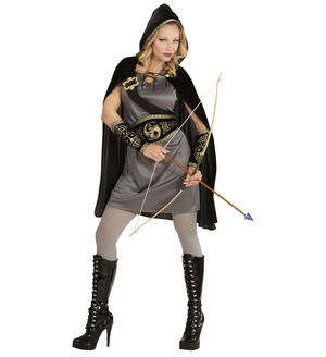Womens Ladies Archer Girl Fancy Dress Costume Medieval Outfit Adult