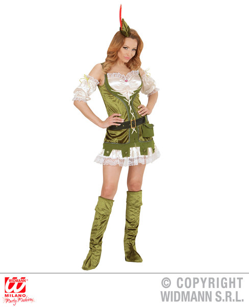 Womens Ladies Robin Hood Girl Fancy Dress Costume Medieval Outfit Adult