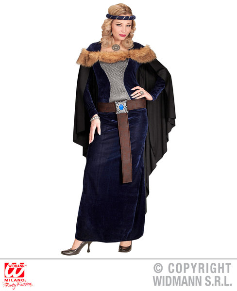 Womens Ladies Medieval Princess Fancy Dress Costume Outfit Adult