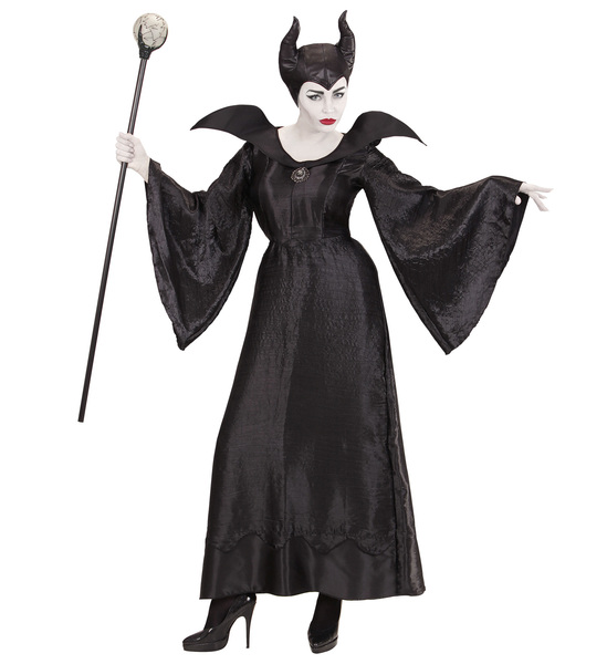 Womens Ladies Malefica Fancy Dress Costume Halloween Outfit Adult