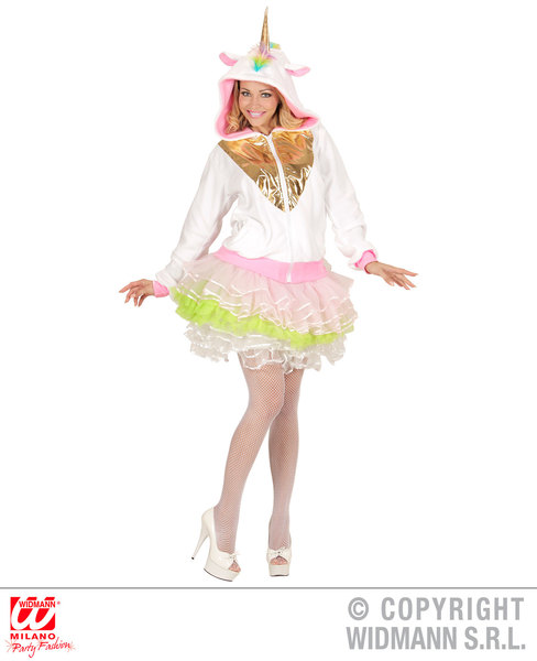 Womens Ladies Unicorn Hoodie Sweatshirt Fancy Dress Costume Fairy Tale Outfit