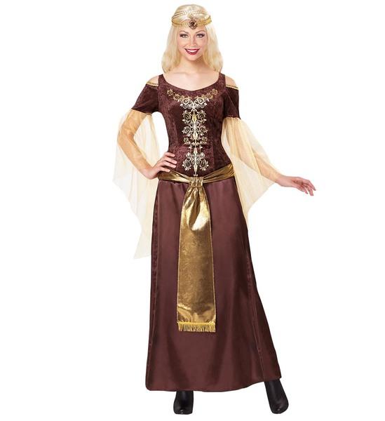 Womens Ladies Viking Lady Fancy Dress Costume Vikings Outfit Adult
