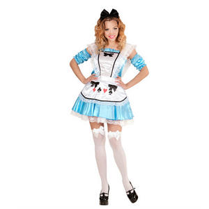 Womens Ladies Alice Wonderland Book Week Fancy Dress Costume Fairy Tale Outfit Adult
