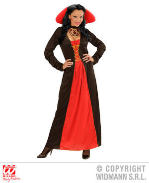 Womens Ladies Victorian Vampiress Halloween Fancy Dress Costume Outfit Adult