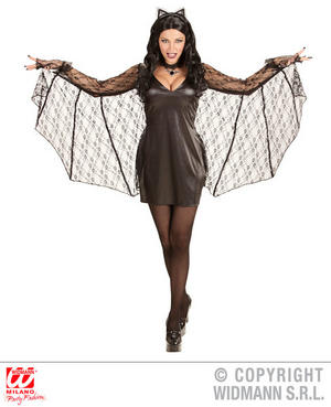 Womens Ladies Bat woman Fancy Dress Costume Halloween Outfit Adult