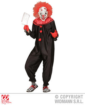 Mens Male Killer Clown Fancy Dress Costume Halloween Circus Outfit Adult