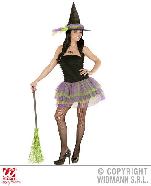Womens Ladies Sparkling Witch Halloween Fancy Dress Costume Halloween Outfit