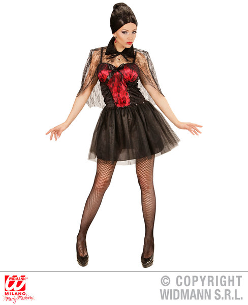 Womens Ladies Vampiress Fancy Dress Costume Halloween Outfit Adult
