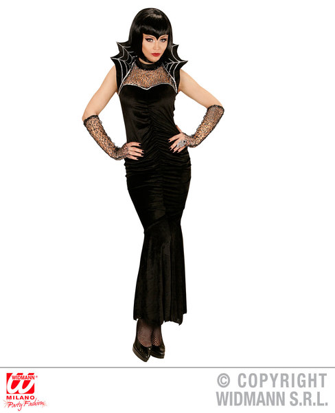 Womens Ladies Sexy Spider Queen Halloween Fancy Dress Costume Outfit