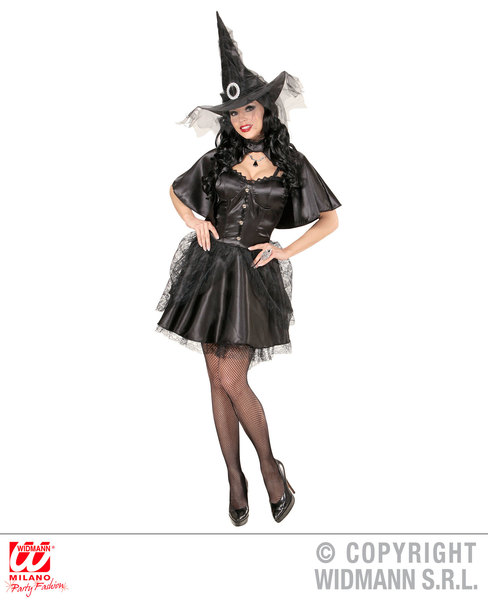 Womens Ladies Witch Halloween Fancy Dress Costume Outfit Adult