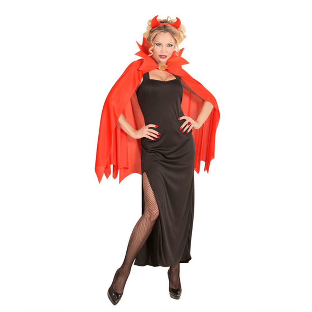 Womens Ladies Red Devil Demon Halloween Fancy Dress Costume Outfit Adult