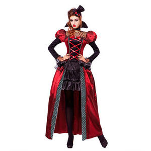 Womens Ladies Victorian Vampire Dracula Halloween Fancy Dress Costume Outfit Adult