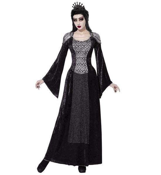Womens Ladies Dark Queen Enchantress Fancy Dress Costume Halloween Outfit