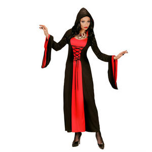 Womens Ladies Gothic Witch Halloween Fancy Dress Costume Outfit Adult