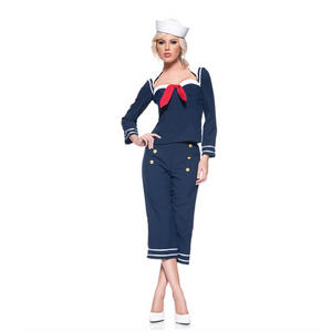 Womens Ladies Pin Up Sailor Girl Navy Fancy Dress Costume 1940s Outfit Adult