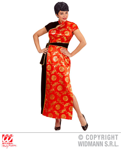 Womens Ladies China Girl Fancy Dress Costume Outfit Adult