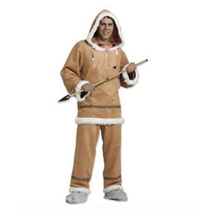 Mens Male Inuit or Yupik Fancy Dress Costume Outfit Adult
