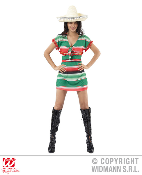 Womens Ladies Mexican Girl Fancy Dress Costume Mariachi Outfit Adult