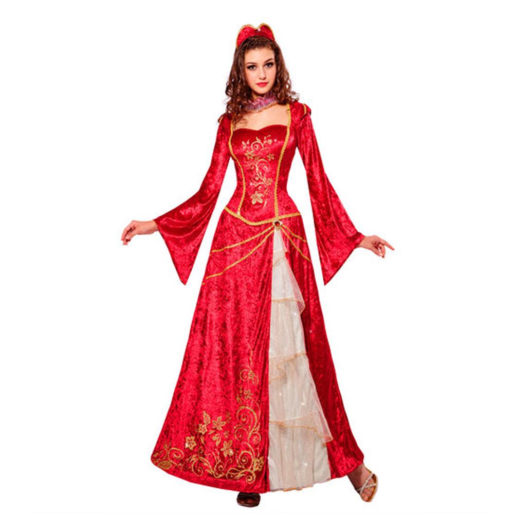 Womens Ladies Renaissance Princess Fancy Dress Costume Fairy Tale Outfit Adult