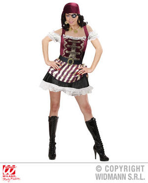 Womens Ladies Sexy Pirate Girl Fancy Dress Halloween Costume Outfit Adult