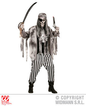 Mens Male Ghost Ship Pirate Halloween Fancy Dress Costume Outfit Adult