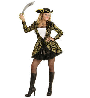 Womens Ladies Sexy Pirate Captain Halloween Fancy Dress Costume Outfit Adult