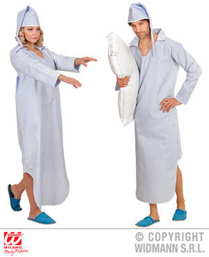 Mens Male Adult Sleepwalker Fancy Dress Costume Outfit Adult