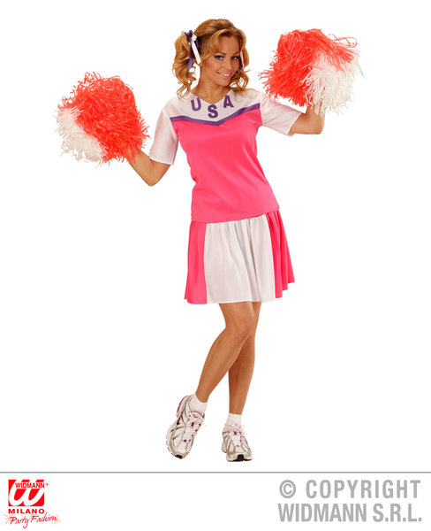 Womens Ladies American Cheerleader Fancy Dress Costume Outfit Adult