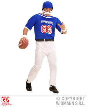 Mens Male American Football Player Fancy Dress Costume Outfit Adult