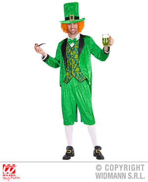Mens Male Adult St. Patrick'S Day Leprechaun Fancy Dress Costume Irish Outfit