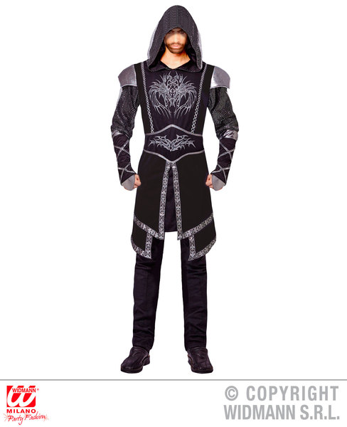Mens Male Assassin Oscuro Fancy Dress Costume Knight Outfit Adult