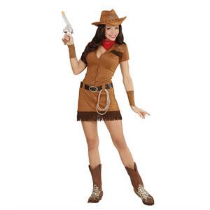 Womens Ladies Cowgirl Fancy Dress Costume Wild West Outfit Adult