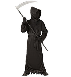 Boys Kids Childs Black Ghost Fancy Dress Costume Halloween Outfit 5-13 Yrs