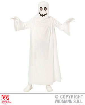 Boys Kids Childs Friendly Ghost Halloween Fancy Dress Costume Outfit 4-13 Yrs