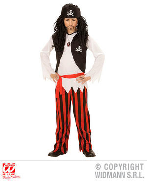 Boys Kids Childs Pirate Boy Halloween Fancy Dress Costume Outfit 4-13 Yrs