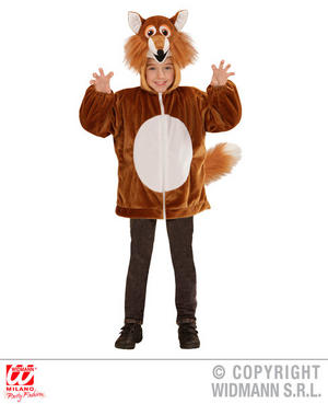 Childs Kids Childrens Plush Fluffy Mr Fox Fancy Dress Costume Outfit 1-5 Yrs