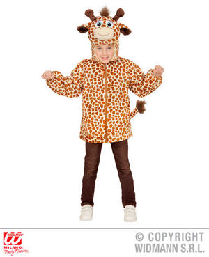 Childs Kids Childrens Plush Fluffy Giraffe Fancy Dress Costume Outfit 1-5 Yrs